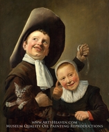 A Boy and a Girl with a Cat and an Eel by Judith Leyster