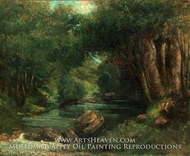 A Brook in the Forest by Gustave Courbet
