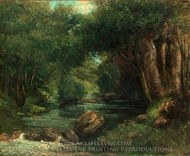 A Brook in the Forest painting reproduction, Gustave Courbet