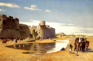 A Caravan painting reproduction, Jean-Leon Gerome