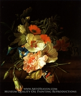 A Carnation Morning Glory with Other Flowers by Rachel Ruysch