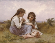 A Childhood Idyll (Idylle Enfantine) painting reproduction, William Adolphe Bouguereau