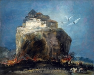 A City on a Rock painting reproduction, Francisco De Goya