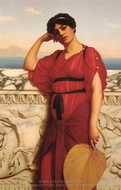 A Classical Lady painting reproduction, John William Godward