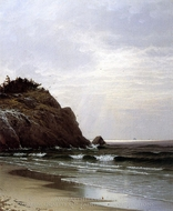 A Cloudy Day painting reproduction, Alfred Thompson Bricher
