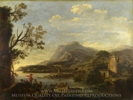 A Coastal Scene painting reproduction, Salvator Rosa