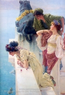 A Coign of Vantage painting reproduction, Sir Lawrence Alma-Tadema