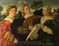 A Concert painting reproduction, Italian Painter