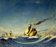 A Convoy 1918 painting reproduction, Herbert Barnard John Everett