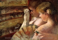 A Corner of the Loge (In the Box) painting reproduction, Mary Cassatt