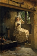 A Cosey Corner painting reproduction, Frank Millet