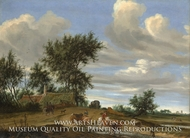 A Country Road by Salomon Van Ruysdael