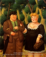 A Couple by Fernando Botero