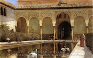 A Court in the Alhambra in the Time of the Moors painting reproduction, Edwin Lord Weeks