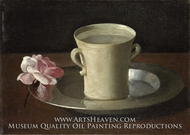 A Cup of Water and a Rose by Francisco De Zurbaran