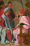 A Discussion painting reproduction, Mirabello Cavalori