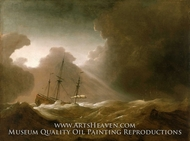 A Dutch Ship Scudding Before a Storm by Willem Van De Velde, The Younger