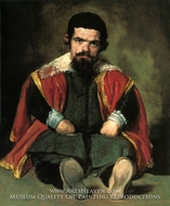 A Dwarf Sitting on the Floor painting reproduction, Diego Velazquez