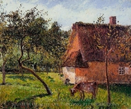 A Field in Varengeville painting reproduction, Camille Pissarro