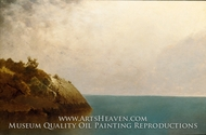 A Foggy Sky painting reproduction, John Frederick Kensett