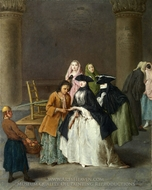 A Fortune Teller at Venice painting reproduction, Pietro Longhi