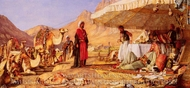 A Frank Encampment in the Desert of Mount Sinai painting reproduction, John Frederick Lewis