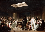 A Game of Billiards painting reproduction, Louis Leopold Boilly