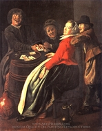 A Game of Cards painting reproduction, Judith Leyster