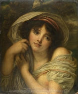 A Girl painting reproduction, Jean Baptiste Greuze