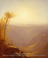 A Gorge in the Mountains (Kauterskill Clove) by Sanford Robinson Gifford