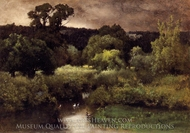 A Gray, Lowery Day painting reproduction, George Inness