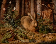 A Hare in the Forest painting reproduction, Hans Hoffmann