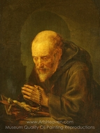 A Hermit Praying painting reproduction, Gerrit Dou