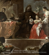 A Homage to Velazquez by Luca Giordano