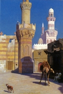 A Hot Day In Cairo painting reproduction, Jean-Leon Gerome