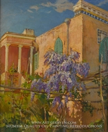 A House with Flowering Trees painting reproduction, Constantin Alexandrovitch Westchiloff