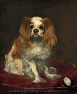 A King Charles Spaniel painting reproduction, Edouard Manet