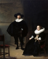A Lady and Gentleman in Black painting reproduction, Rembrandt Van Rijn