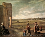 A Landscape with Peasants painting reproduction, Louis Le Nain