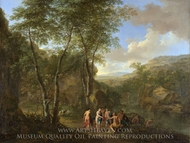 A Landscape with the Judgement of Paris painting reproduction, Jan Both