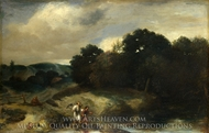 A Landscape with Tobias and the Angel painting reproduction, Jan Lievensz