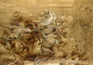 A Lion Hunt painting reproduction, Peter Paul Rubens