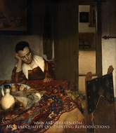 A Maid Asleep by Jan Vermeer