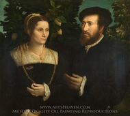 A Man and his Wife painting reproduction, Italian Painter