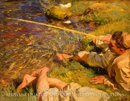 A Man Fishing by John Singer Sargent