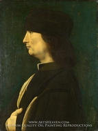 A Man in Profile by Giovanni Antonio Boltraffio