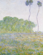 A Meadow at Giverny painting reproduction, Claude Monet
