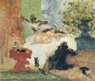 A Modern Olympia painting reproduction, Paul Cezanne