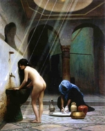 A Moorish Bath (Turkish Woman Bathing) painting reproduction, Jean-Leon Gerome