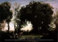 A Morning Dance of the Nymphs painting reproduction, Jean-Baptiste Camille Corot